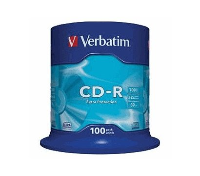 Фото диска CD-R Verbatim 100pk Extra Protection 700Mb/80min 52x Cake - 43411