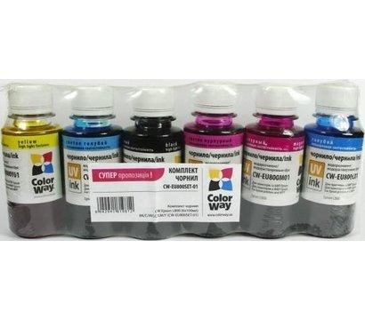 Фото чернила для принтера ColorWay Epson L800 - CW-EU800SET01