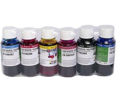 Фото чернила для принтера ColorWay Epson TX650 BK/С/M/LС/LM/Y - CW-EW650SET01