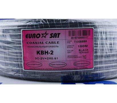 Фото №2 коаксиал Кабель EuroSat 3C-2V + 2x0.51 (Черный)