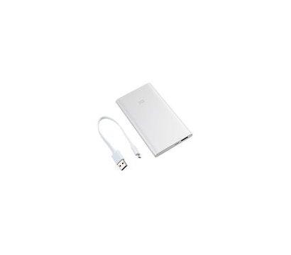 Фото универсальной мобильной батареи Xiaomi Mi Power Bank 5000 mAh Silver