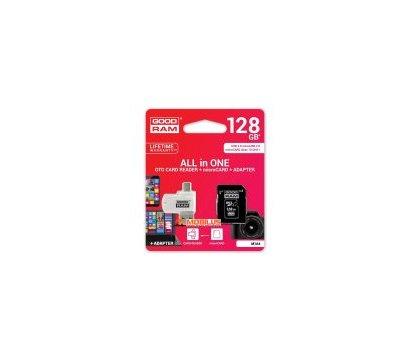 Фото карты памяти GoodRAM MicroSDHC 128GB UHS-I Class 10 + SD-adapter + OTG Card reader — M1A4-1280R11