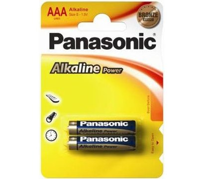 Фото батарейки Panasonic Alkaline Power LR03REB/2BP, AAA/LR03