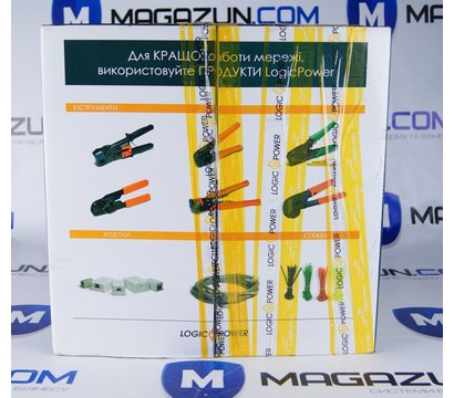 Фото №1 кабеля LogicPower UTP 5e 4x2x0.50 Cu внутр. (медь) 305м