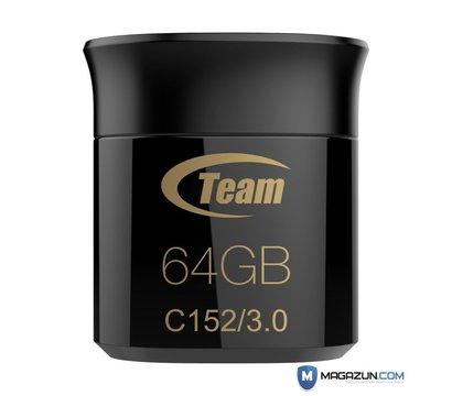 Фотографія 2 USB флешки Team C152 Black 64GB USB 3.0 - TC152364GB01