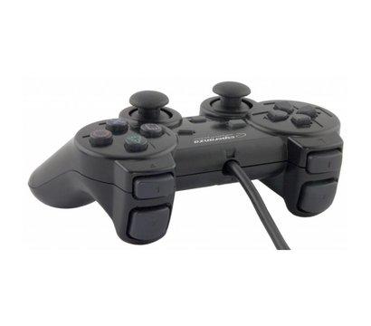 Фото №1 геймпада Esperanza Vibration PS2/PS3/PC Black — EG106