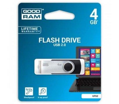 Фотографія 2 USB флешки GoodRam Twister Black 4GB USB 2.0 - UTS2-0040K0R11