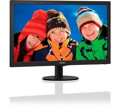 Фото №1 монитора Philips 223V5LHSB/01 Black