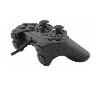 Фото №2 геймпада Esperanza Vibration PS2/PS3/PC Black — EG106