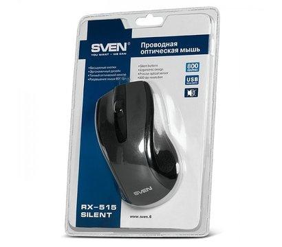 Фото №1 компьютерной мышки Sven RX-515 SILENT USB Black — 00530063