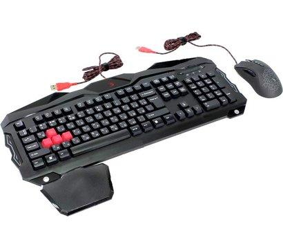Фото №2 комплекта мышь+клавиатура A4Tech B2100 Bloody USB Black