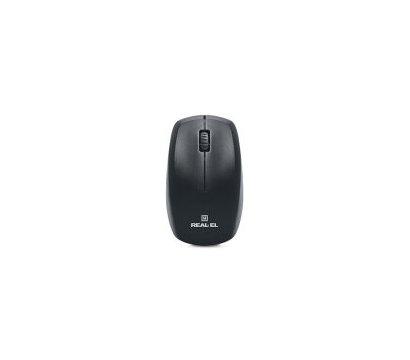 Фото №1 комплекта мышь+клавиатура REAL-EL Standard 505 Kit  USB Black — EL123100013