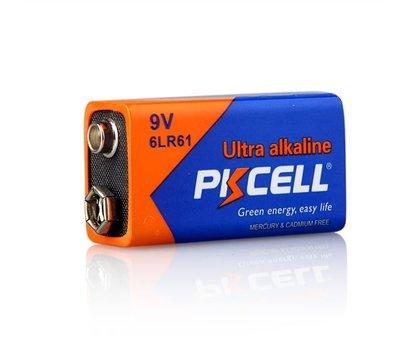 Фото батарейки Pkcell 9V/6LR61, 1шт. (shrink)