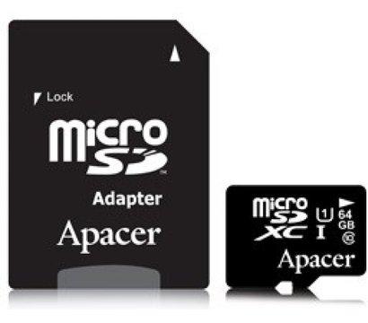 Фото карты памяти Apacer UHS-I microSDHC Class10 64GB - AP64GMCSX10U1-R