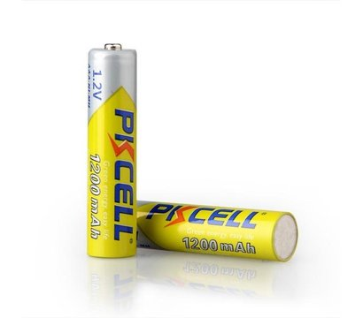 Фото №1 батарейки Pkcell 1.2V AAA 1200mAh NiMH Rechargeable Battery, 2 шт.
