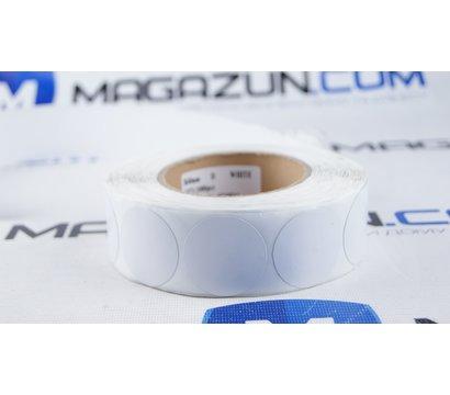 Фото №1 товара Защитные этикетки круглые, белые, рул. 1000 шт.