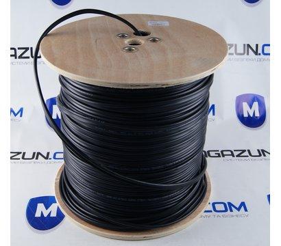 Фото №1 коаксиального кабеля Dialan RG-59+2x0.5 черн. 1м.