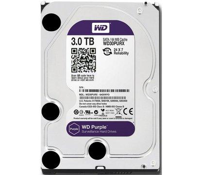 Фото жесткого диска Western Digital Purple 3TB 64МB 3.5 SATA III — WD30PURZ