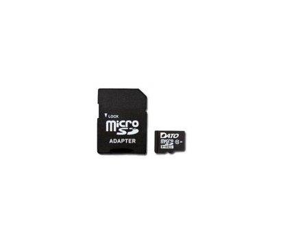 Фото карты памяти Dato MicroSDHC Class 10 16GB + SD-adapter - DT16C10