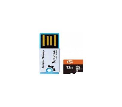 Фото карты памяти Team UHS-1 MicroSDHC 32GB + Reader TR11A1 Red - TUSDH32GUHS30