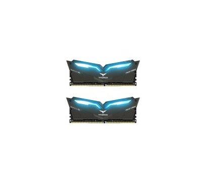 Фото модуля памяти Team T-Force Night Hawk Black LED/Blue DDR4 2x16384Mb 2666MHz — THBD432G2666HC15BDC01