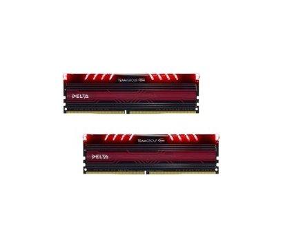 Фото модуля памяти Team T-Force Delta Red LED DDR4 2x16384Mb 3000MHz — TDTRD432G3000HC16CDC01