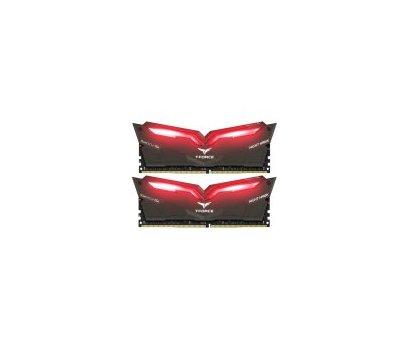 Фото модуля памяти Team T-Force Night Hawk Black LED/Red DDR4 2x16384Mb 3000MHz — THRD432G3000HC16CDC01
