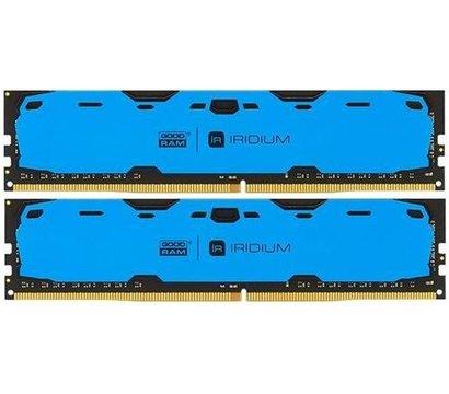 Фото модуля памяти Goodram Iridium Blue DDR4 2x4096Mb 2400MHz — IR-B2400D464L15S/8GDC