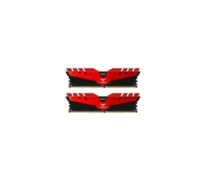 Фото модуля памяти Team T-Force Dark Red DDR4 2x4096Mb 2400MHz — TDRED48G2400HC14DC01