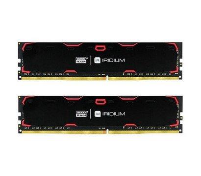Фото модуля памяти Goodram Iridium Black DDR4 2x8192Mb 2400MHz — IR-2400D464L15S/16GDC