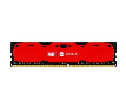 Фото модуля памяти Goodram Iridium Red DDR4 4096Mb 2400MHz — IR-R2400D464L15S/4G