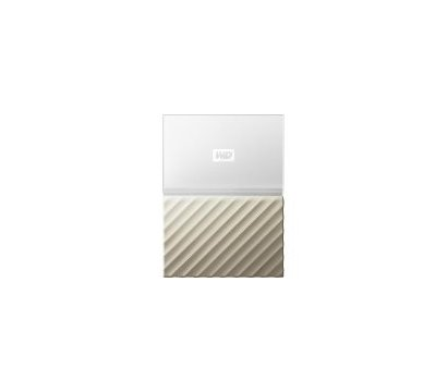 Фото жесткого диска Western Digital My Passport Ultra 1TB 2.5 USB 3.0 White/Gold — WDBTLG0010BGD-WESN