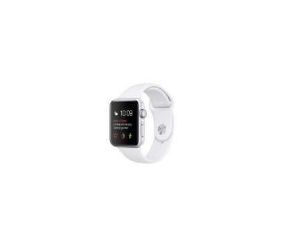 Фото смарт-часов Apple Watch Silver Aluminum Case with White Sport Band — MNPJ2