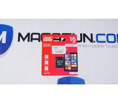 Фото №1 карты памяти GoodRAM MicroSDHC 16GB UHS-I Class 10 + SD-adapter — M1AA-0160R11