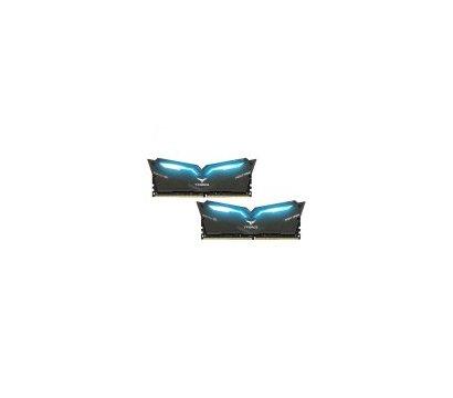Фотография 2 комплектующего ПК Память Team T-Force Night Hawk Black LED/Blue DDR4 2x16384Mb 2666MHz — THBD432G2666HC15BDC01