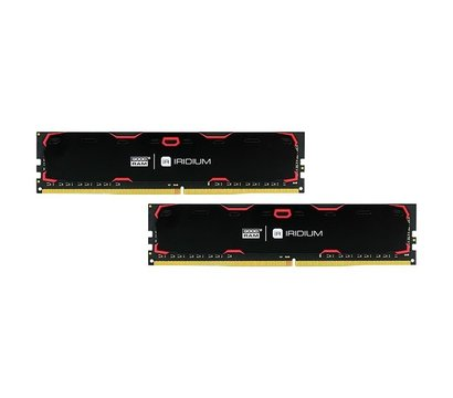Фотографія 2 комплектующего ПК Память Goodram Iridium Black DDR4 2x8192Mb 2400MHz — IR-2400D464L15S/16GDC
