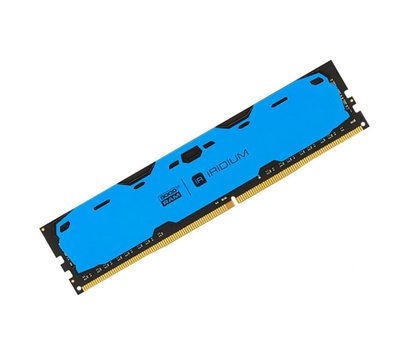 Фото №1 модуля памяти Goodram Iridium Blue DDR4 2x8192Mb 2400MHz — IR-B2400D464L15S/16GDC