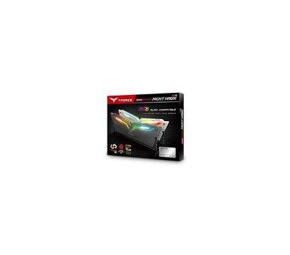 Фото №1 модуля памяти Team T-Force Night Hawk White RGB DDR4 2x8192Mb 3000MHz — TF2D416G3000HC16CDC01