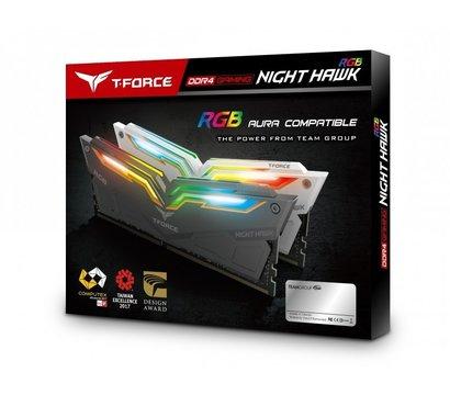Фото №1 модуля памяти Team T-Force Night Hawk Black RGB DDR4 2x8192Mb 3200MHz — TF1D416G3200HC16CDC01