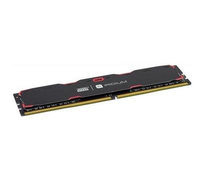 Фото №1 модуля памяти Goodram Iridium Black DDR4 4096Mb 2400MHz — IR-2400D464L17S/4G