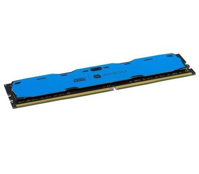 Фото №1 модуля памяти Goodram Iridium Blue DDR4 8192Mb 2400MHz — IR-B2400D464L15S/8G
