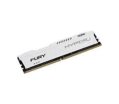Фото №1 модуля памяти Kingston HyperX Fury White DDR4 16384Mb 2666MHz — HX426C16FW/16