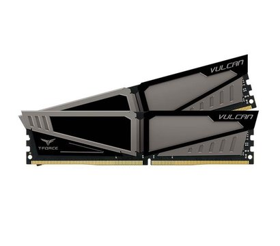 Фотография 3 комплектующего ПК Память Team T-Force Vulcan Gray DDR4 2x16384Mb 2666MHz — TLGD432G2666HC15BDC01