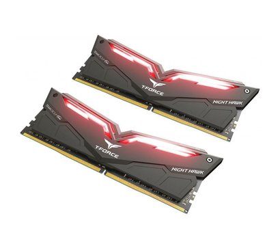 Фото №3 модуля памяти Team T-Force Night Hawk Black LED/Red DDR4 2x16384Mb 3200MHz — THRD432G3200HC16CDC01