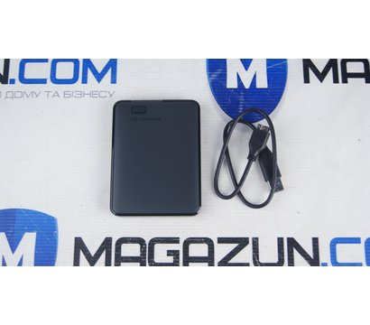 Фото №1 жесткого диска Western Digital Elements 1TB 2.5 USB 3.0 External Black — WDBUZG0010BBK-WESN
