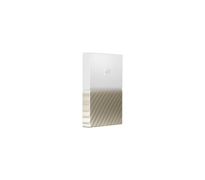 Фото №1 жесткого диска Western Digital My Passport Ultra 1TB 2.5 USB 3.0 White/Gold — WDBTLG0010BGD-WESN