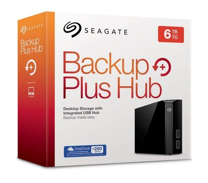 Фото №5 жесткого диска Seagate Backup Plus Hub 6TB 3.5 USB 3.0 External Black — STEL6000200