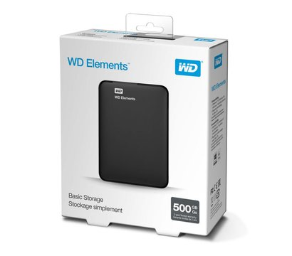 Фото №6 жесткого диска Western Digital Elements Desktop 500GB 2.5 USB 3.0 External Black — WDBUZG5000ABK-WESN