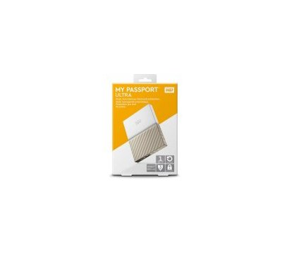 Фото №8 жесткого диска Western Digital My Passport Ultra 1TB 2.5 USB 3.0 White/Gold — WDBTLG0010BGD-WESN