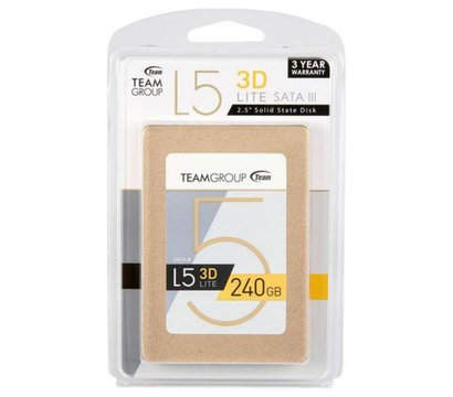 Фото №1  SSD Team L5 LITE 240GB SATA III 3D V-NAND TLC — T253TD240G3C101